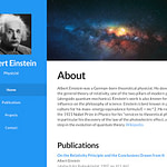 academic personal website templates